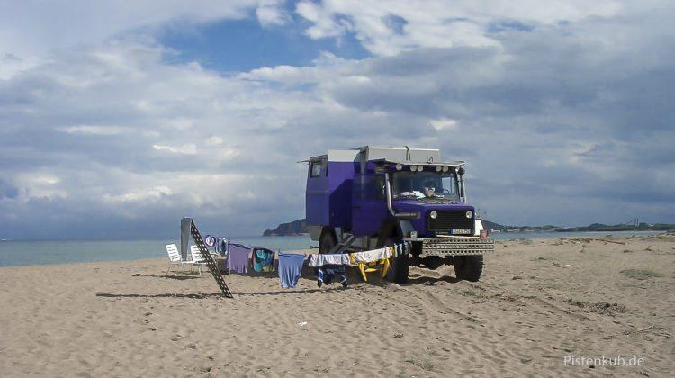Leben am Strand auf Sardinien