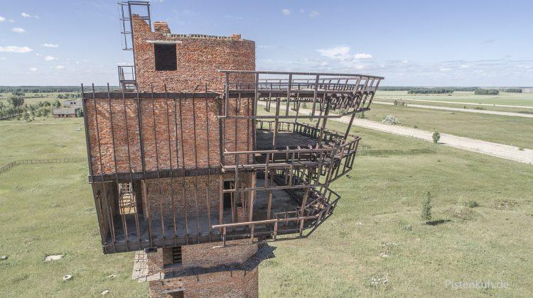 Tower der Flughafen-Ruine