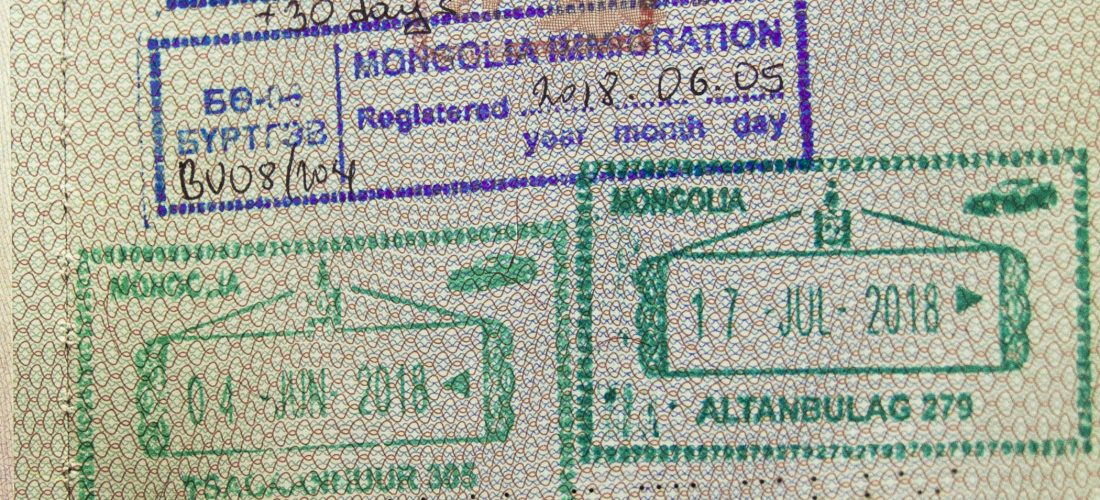 Reise-Infos Visum Mongolei