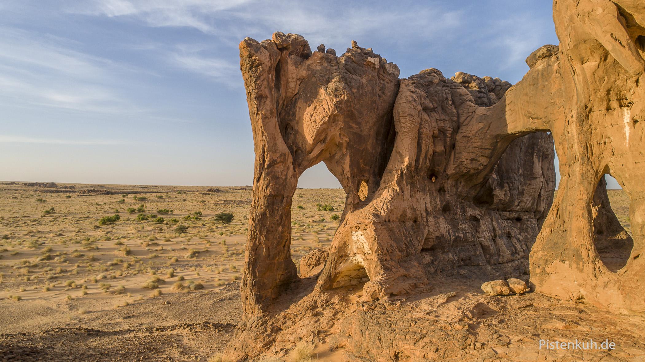 Die Felsformation, die dem Sandstein den Namen gab: Elefantenfelsen