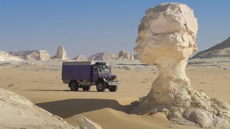 Unterwegs in der weißen Wüste in Ägypten