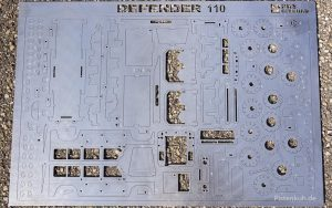 gelasterte Edelstahlplatte des 3D-Puzzels.