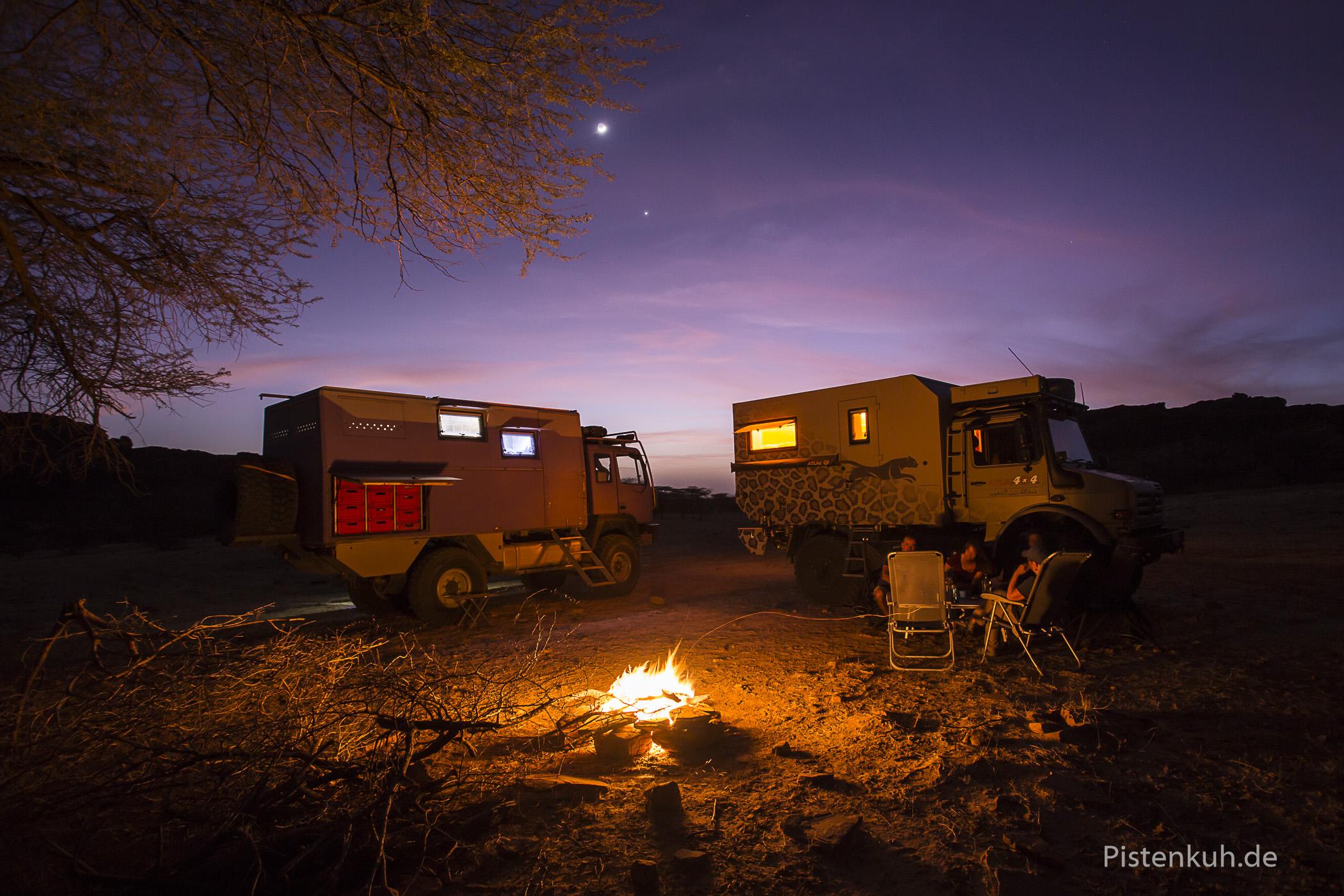 Lagerfeuer in Mauretanien