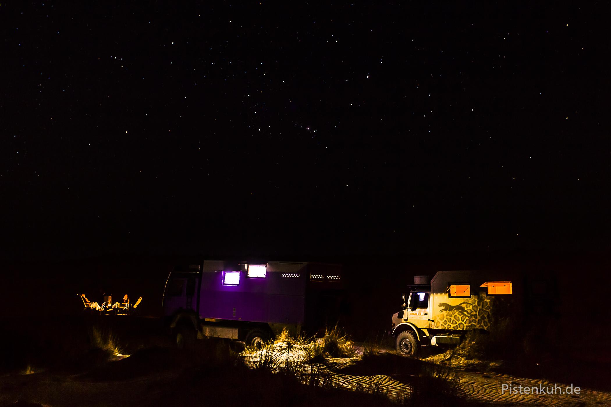 Nachts in der Sahara