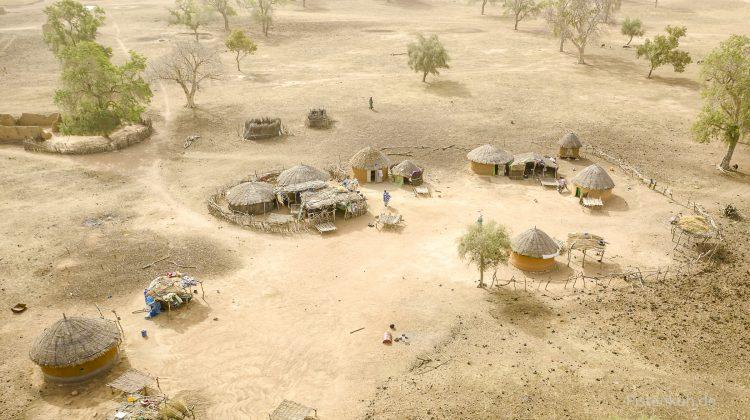 Hütten in Mali