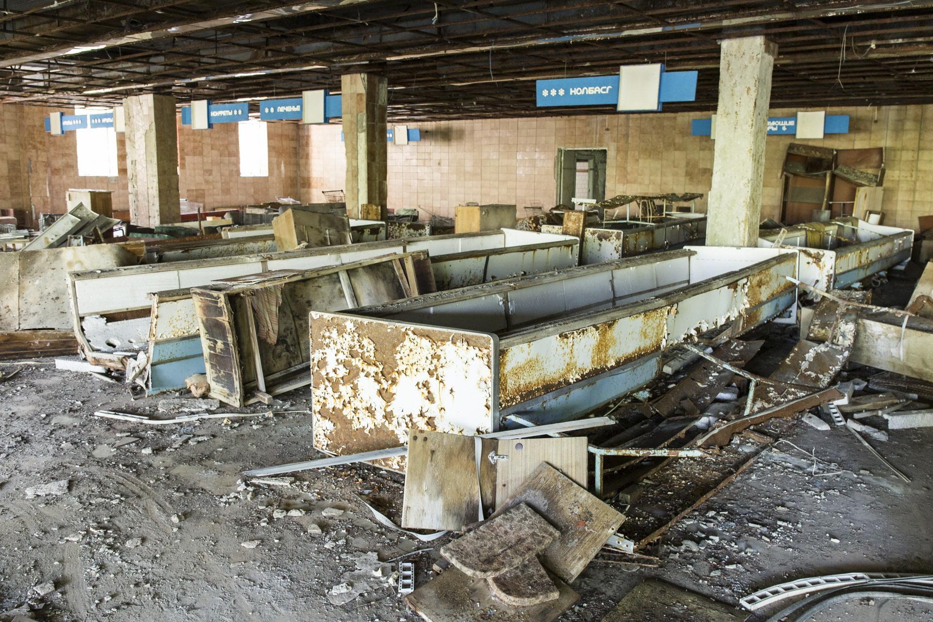 Verlassener Supermarkt in Prypjat.