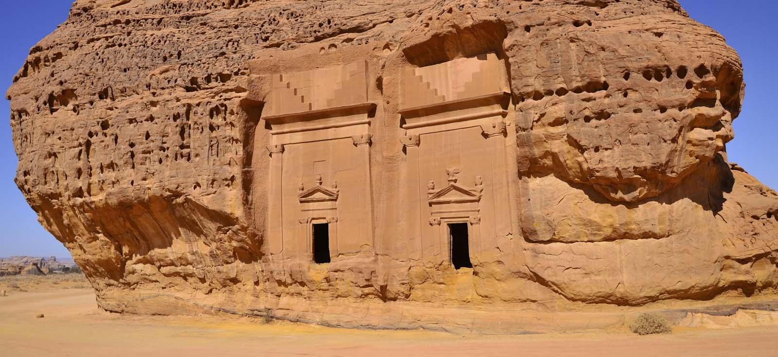 Totenstadt in Saudi Arabien Mada'in Salih