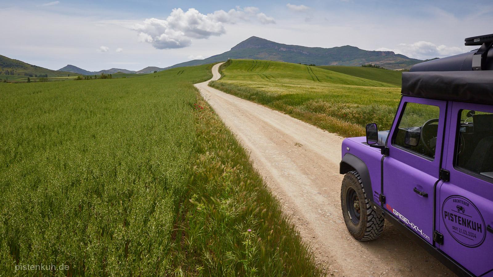 Feldweg in Spanien