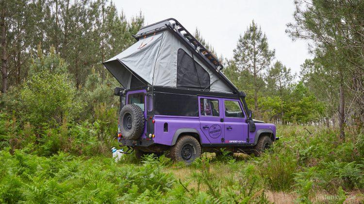 Land Rover Defender mit Alu-Cab Hubdach