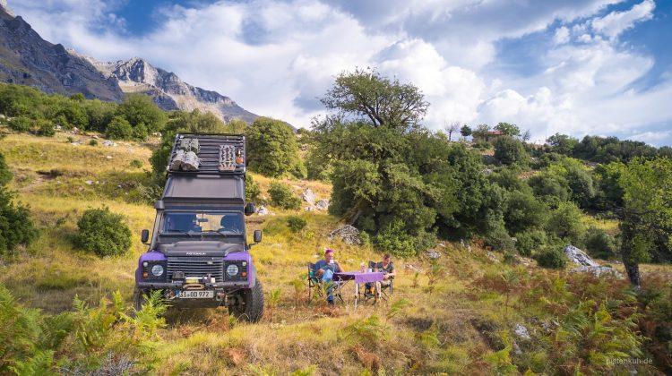 Campen auf der Offroad-Reise