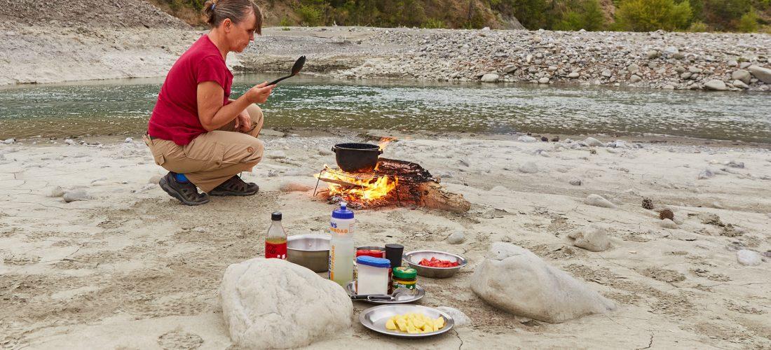 Kochen auf Feuer