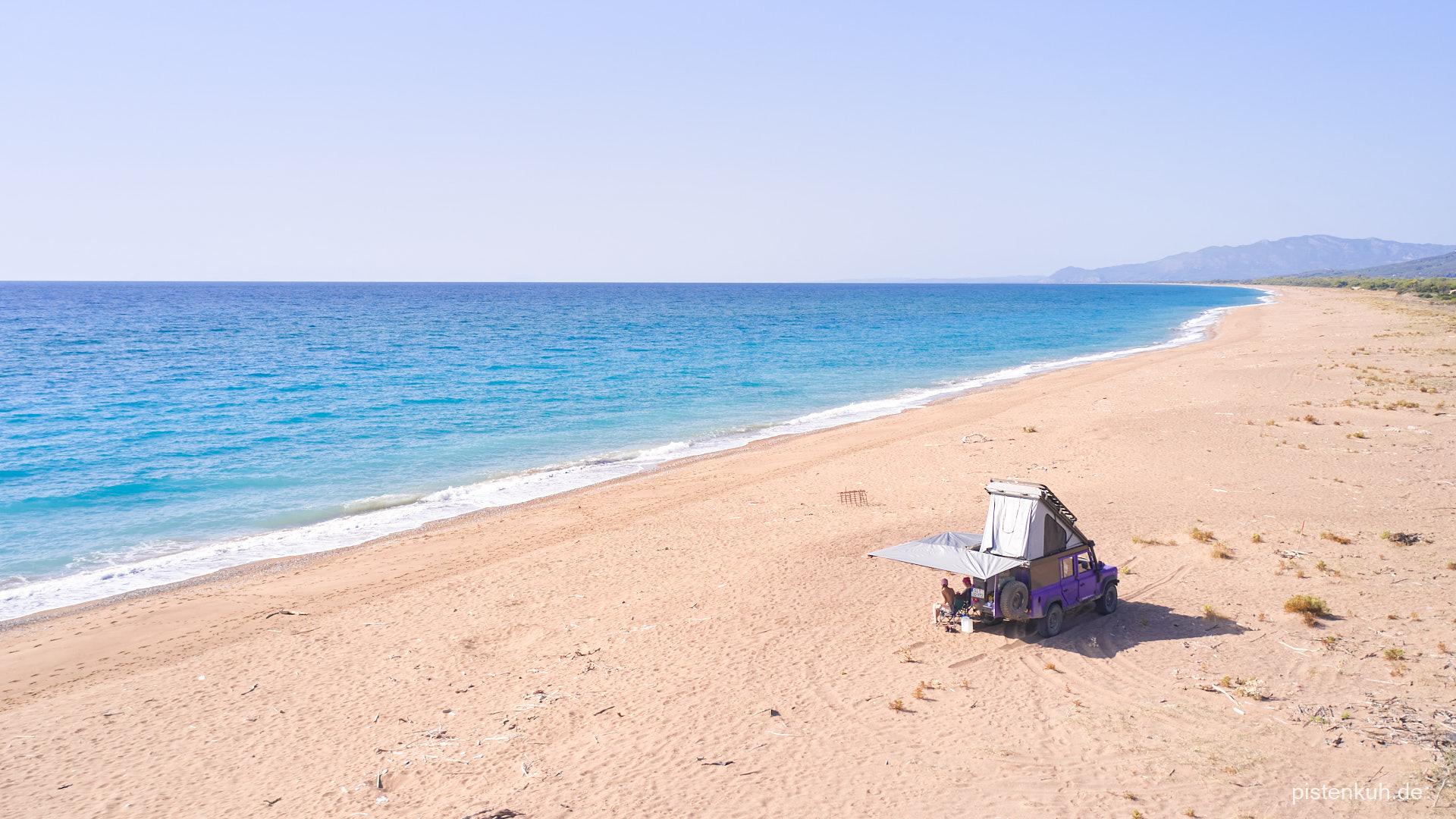 Freies Leben am Strand