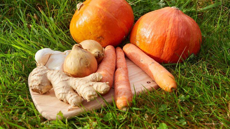 Kürbissuppe mit Ingwer und Orange
